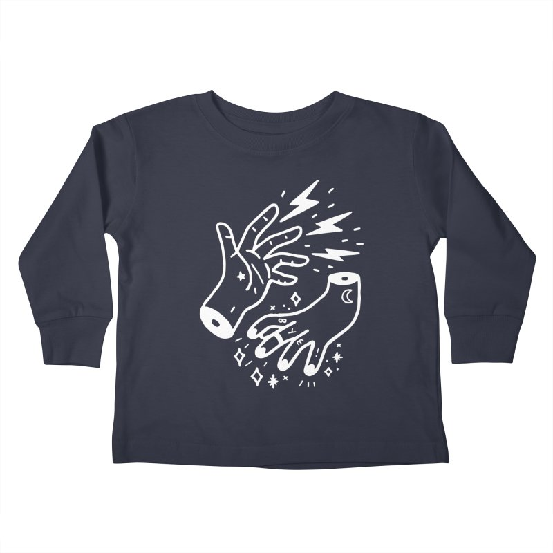 Cursed! (wht) Kids Toddler Longsleeve T-Shirt by VOID MERCH