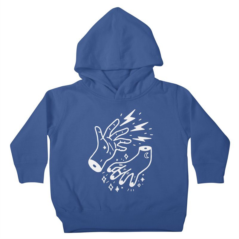 Cursed! (wht) Kids Toddler Pullover Hoody by VOID MERCH