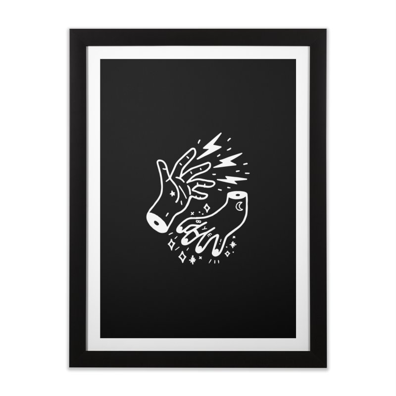 Cursed! (wht) Home Framed Fine Art Print by VOID MERCH