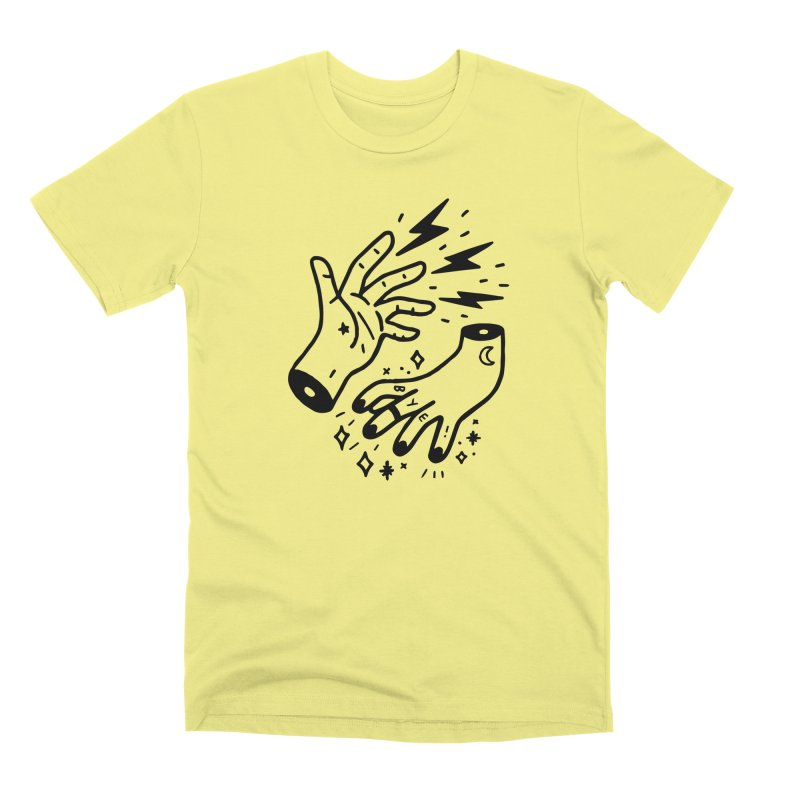 Cursed! (blk) in Men's Premium T-Shirt Canary by VOID MERCH