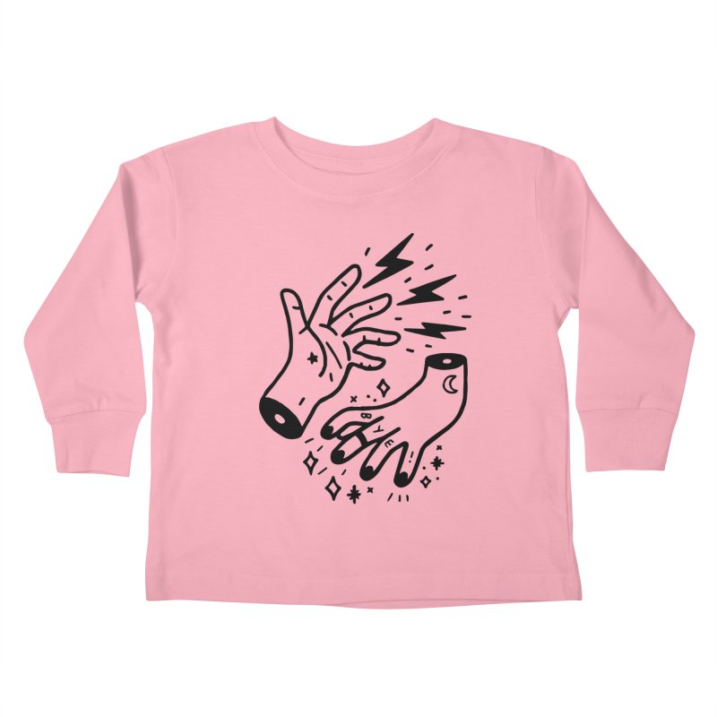 Cursed! (blk) Kids Toddler Longsleeve T-Shirt by VOID MERCH