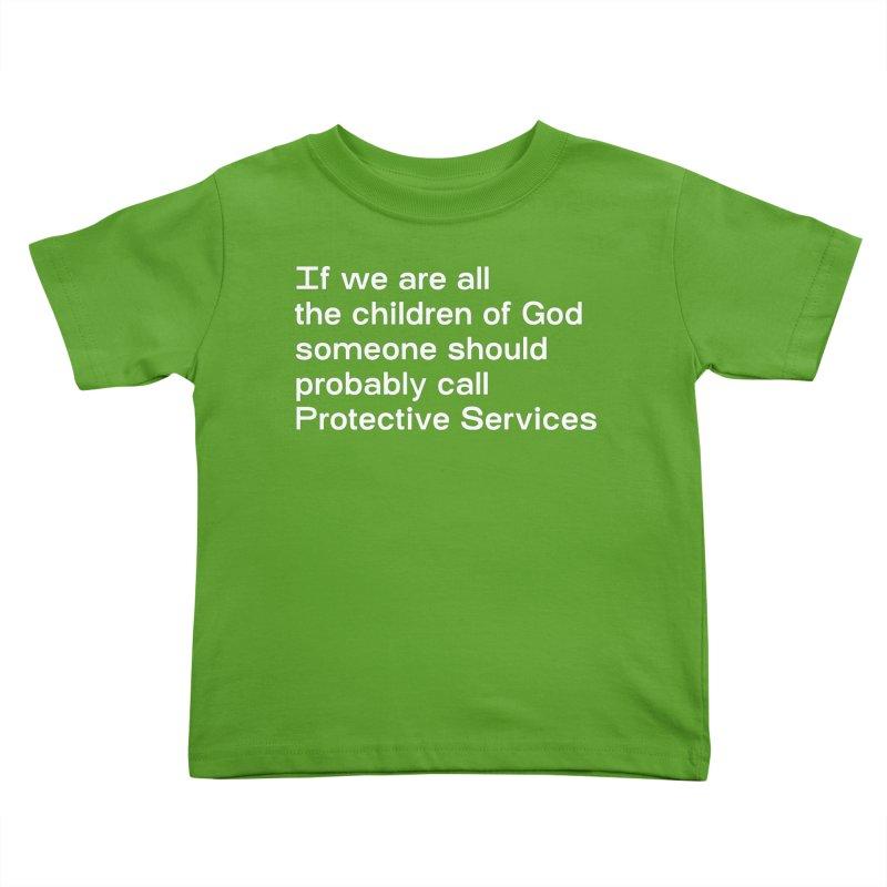 Negligent Deity Kids Toddler T-Shirt by VOID MERCH