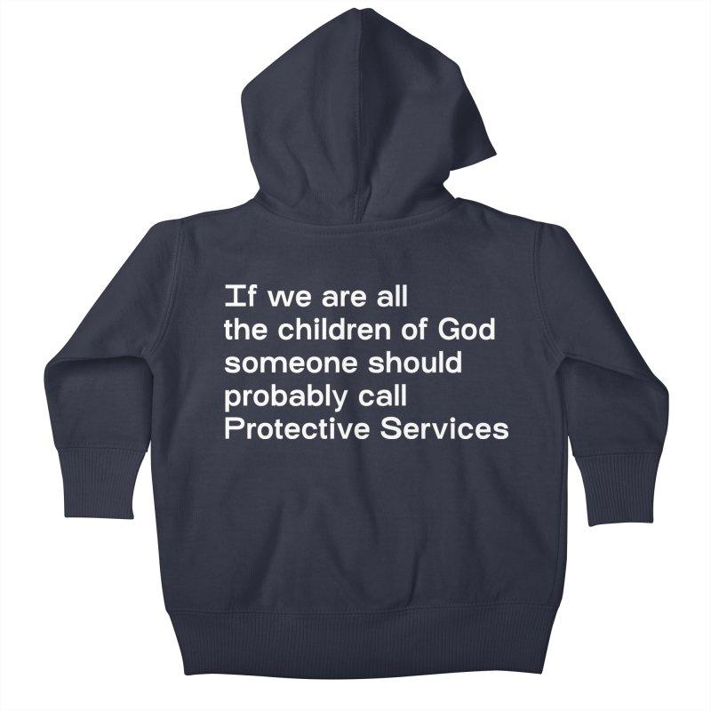 Negligent Deity Kids Baby Zip-Up Hoody by VOID MERCH
