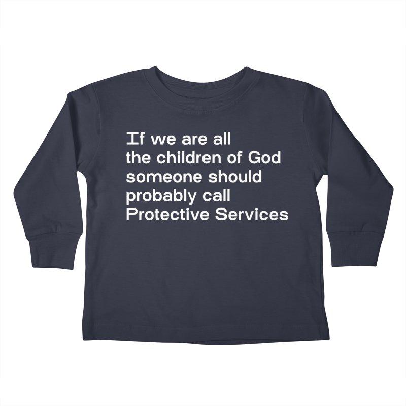 Negligent Deity Kids Toddler Longsleeve T-Shirt by VOID MERCH