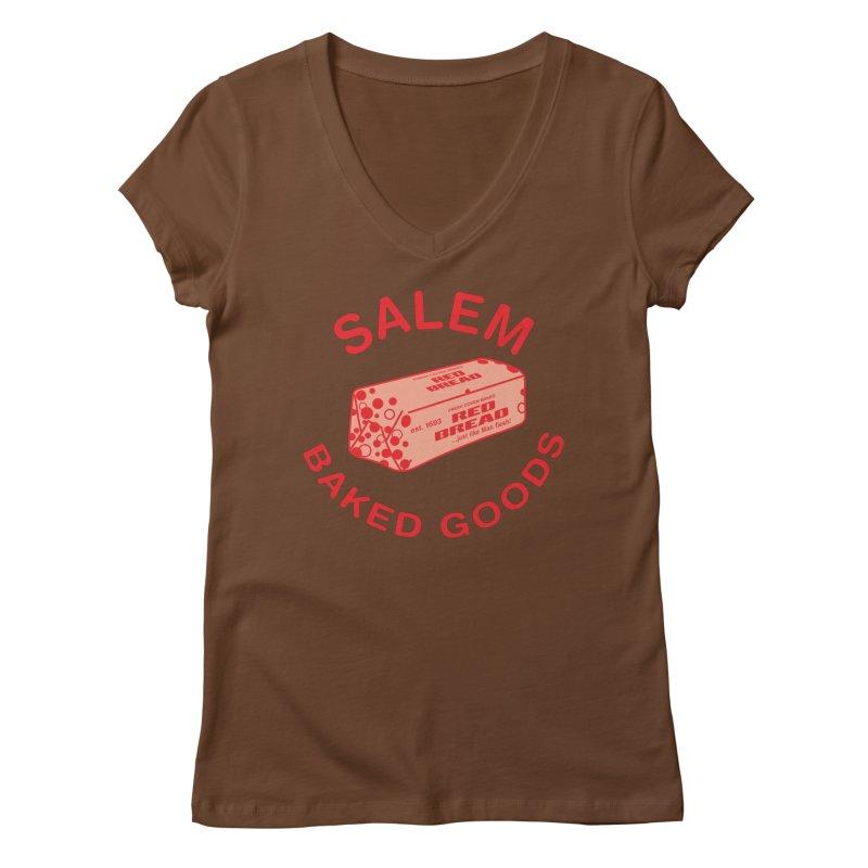 SALEM BAKED GOODS Women's Regular V-Neck by VOID MERCH