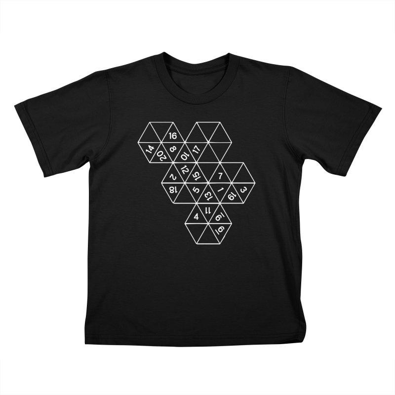 (D)econstructed 20 (wht) Kids T-Shirt by VOID MERCH