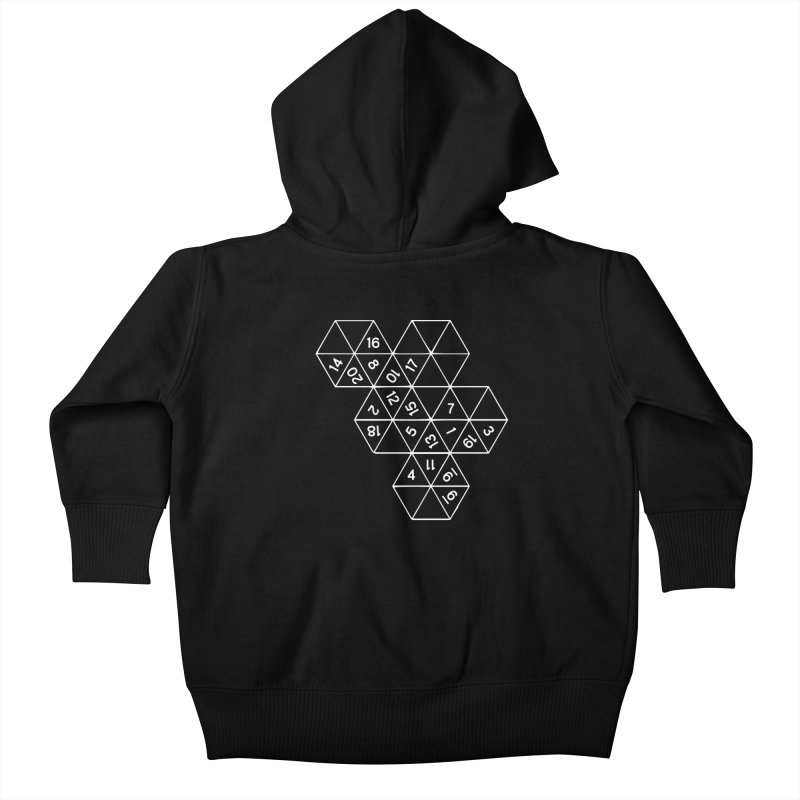 (D)econstructed 20 (wht) Kids Baby Zip-Up Hoody by VOID MERCH