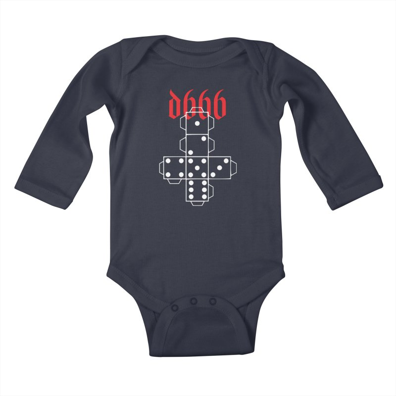 d666 (wht) Kids Baby Longsleeve Bodysuit by VOID MERCH