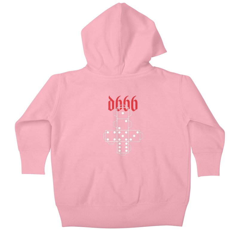 d666 (wht) Kids Baby Zip-Up Hoody by VOID MERCH