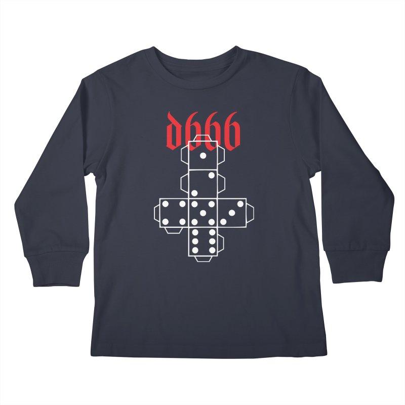 d666 (wht) Kids Longsleeve T-Shirt by VOID MERCH