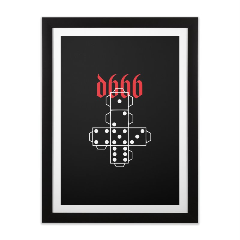 d666 (wht) Home Framed Fine Art Print by VOID MERCH