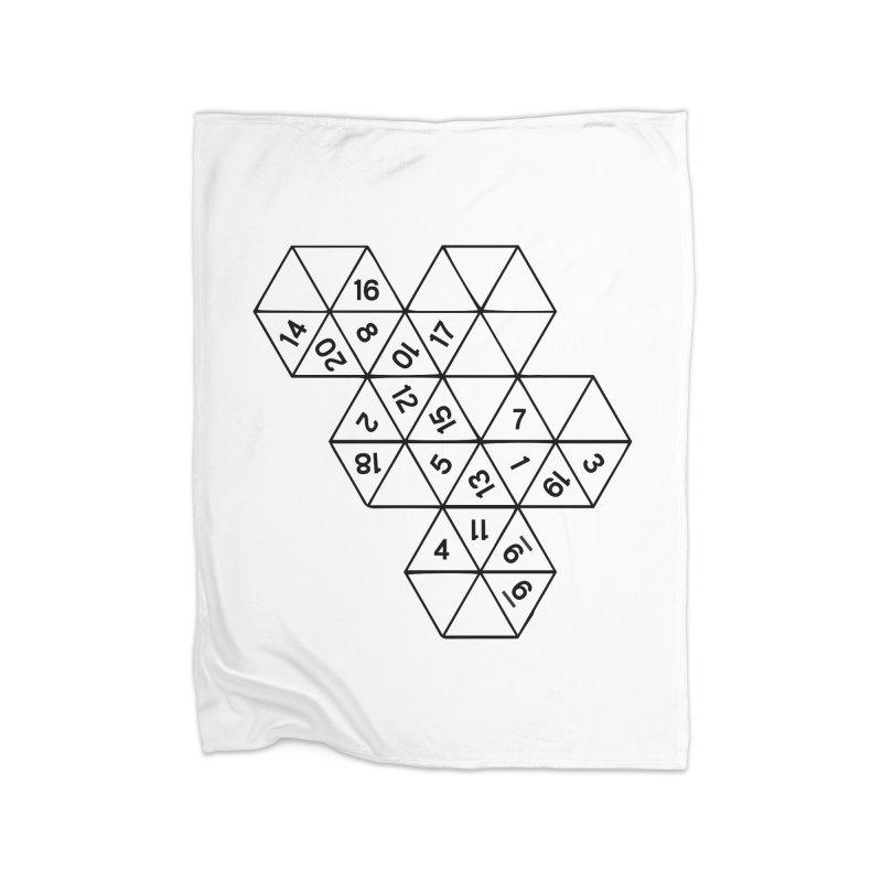 (D)econstructed 20 (blk) Home Fleece Blanket Blanket by VOID MERCH