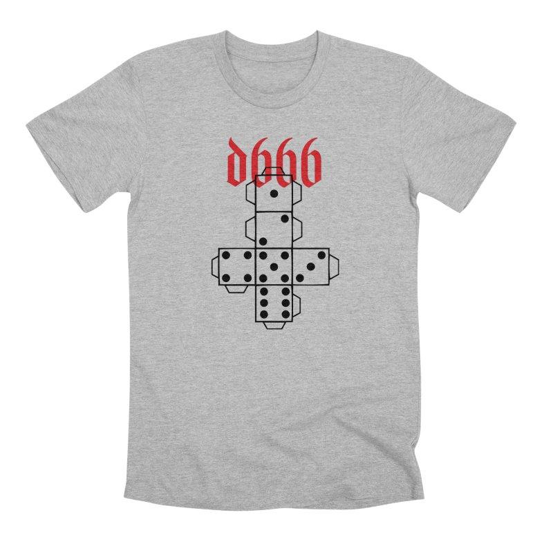 d666 (blk) in Men's Premium T-Shirt Heather Grey by VOID MERCH