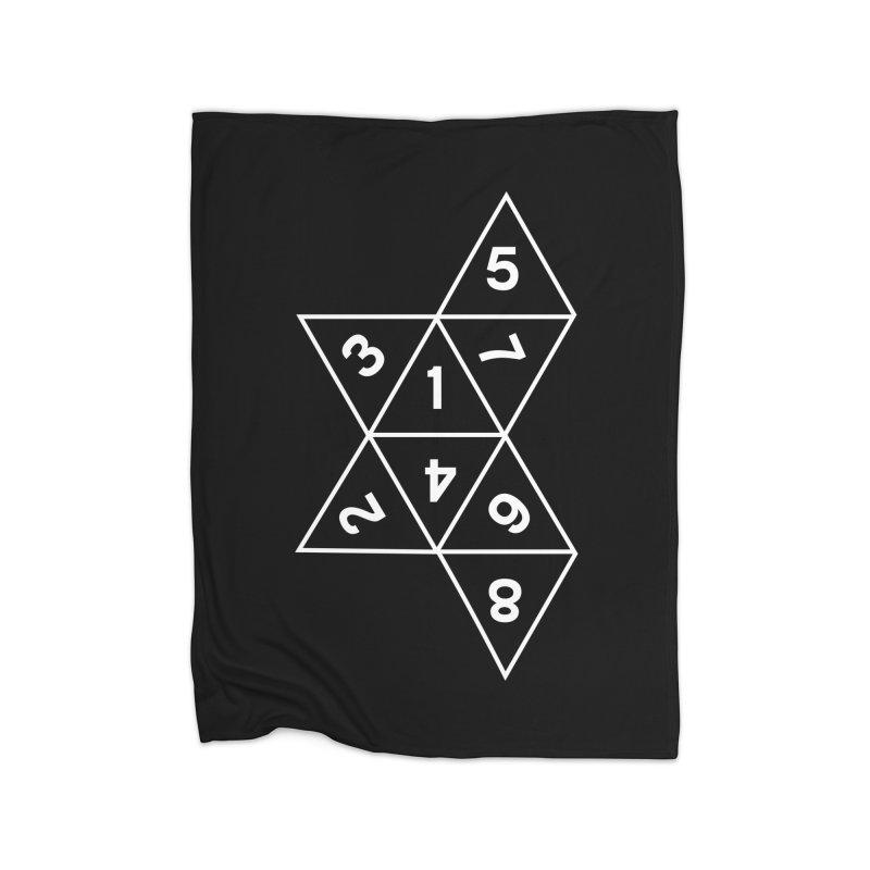 (D)econstructed 8 (wht) Home Fleece Blanket Blanket by VOID MERCH
