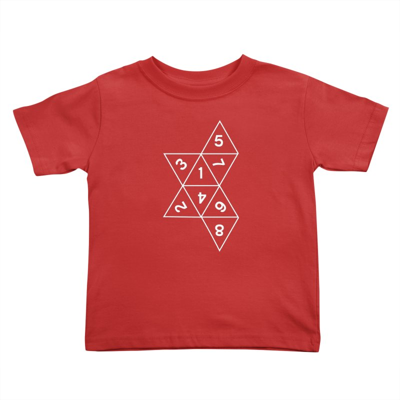 (D)econstructed 8 (wht) Kids Toddler T-Shirt by VOID MERCH