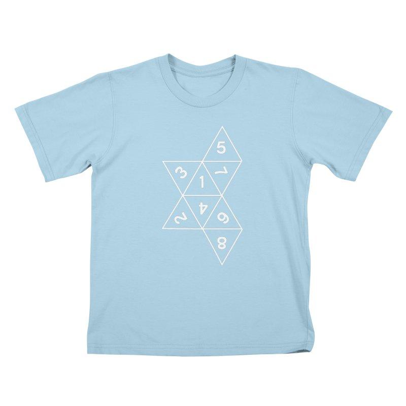 (D)econstructed 8 (wht) Kids T-Shirt by VOID MERCH
