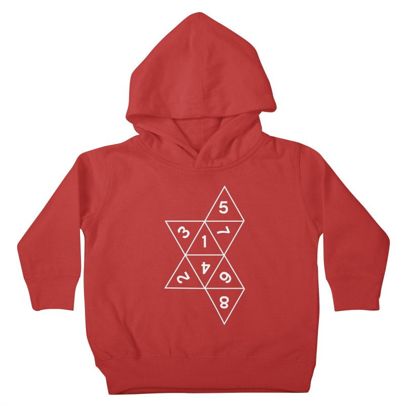 (D)econstructed 8 (wht) Kids Toddler Pullover Hoody by VOID MERCH