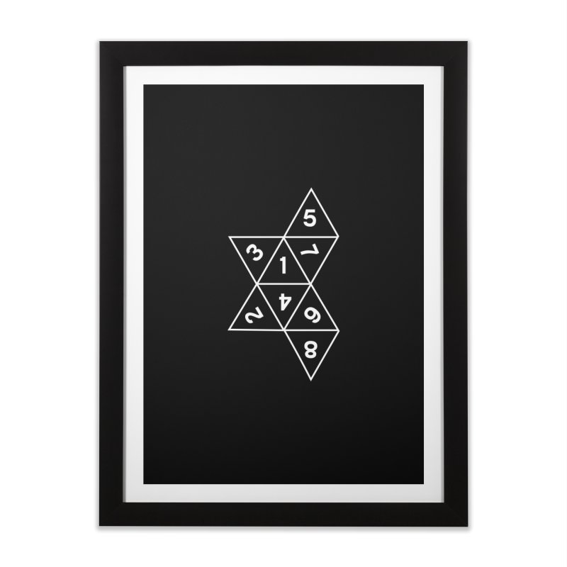 (D)econstructed 8 (wht) Home Framed Fine Art Print by VOID MERCH