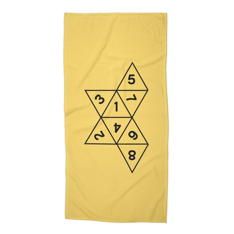 (D)econstructed 8 (blk) Accessories Beach Towel by VOID MERCH