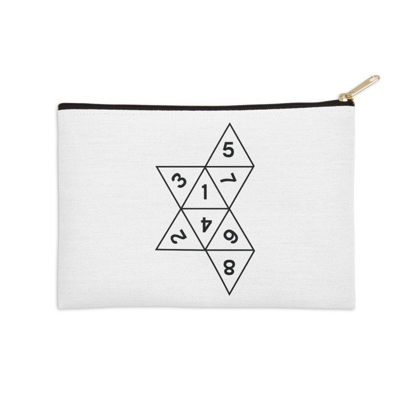 (D)econstructed 8 (blk) Accessories Zip Pouch by VOID MERCH