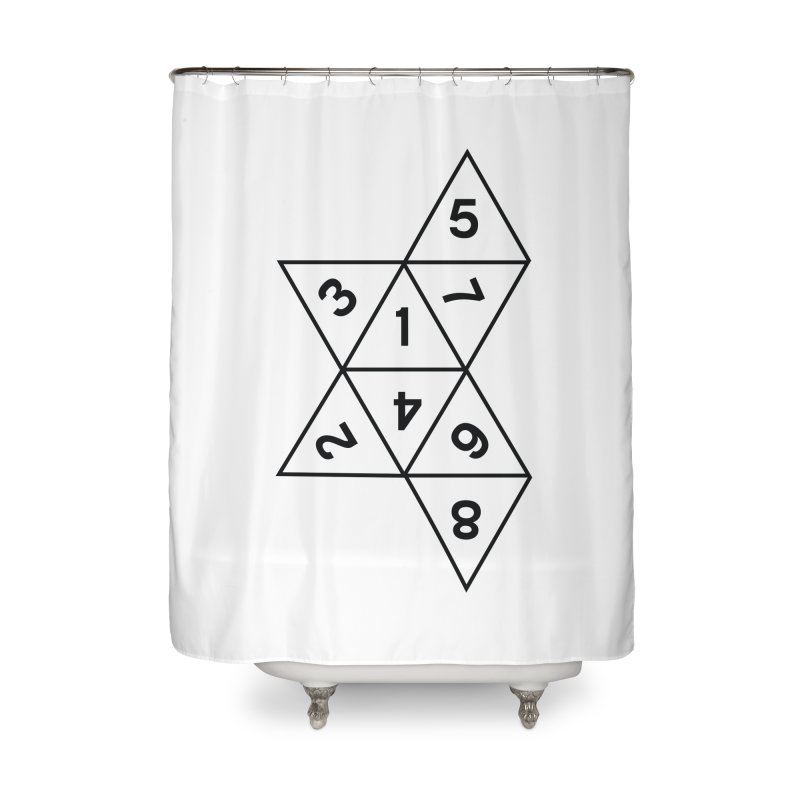 (D)econstructed 8 (blk) Home Shower Curtain by VOID MERCH