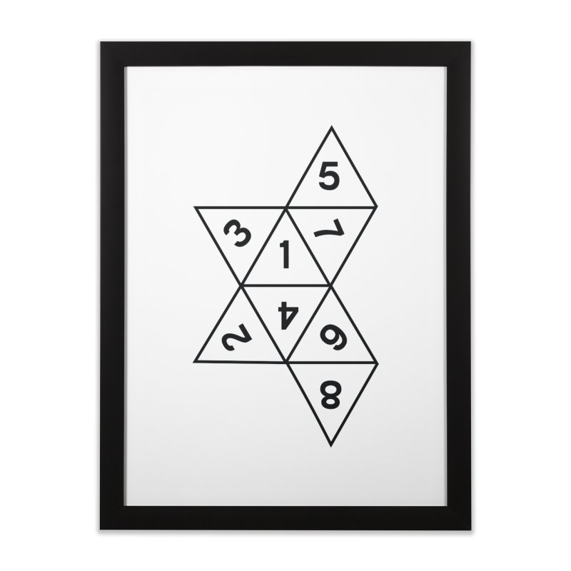 (D)econstructed 8 (blk) Home Framed Fine Art Print by VOID MERCH