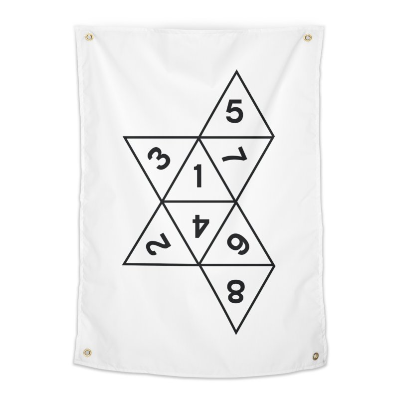 (D)econstructed 8 (blk) Home Tapestry by VOID MERCH