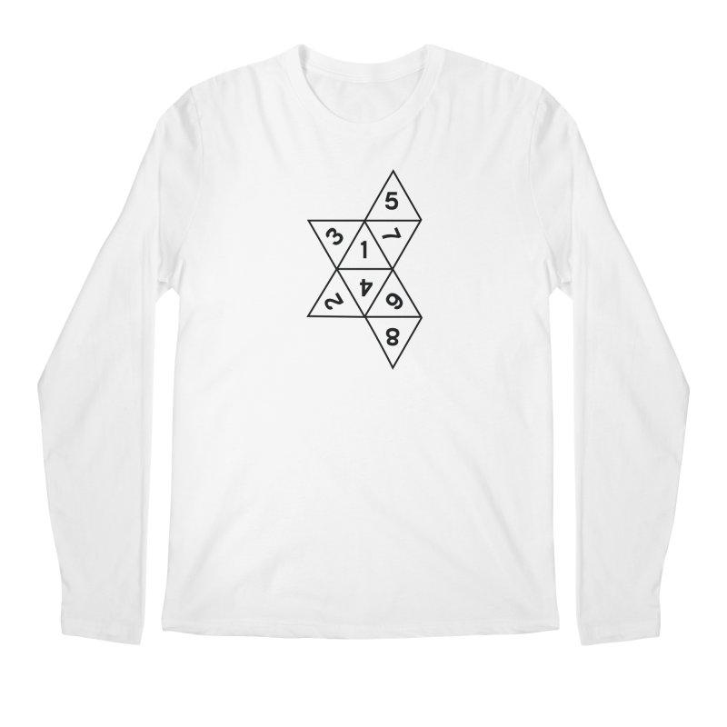 (D)econstructed 8 (blk) Men's Regular Longsleeve T-Shirt by VOID MERCH