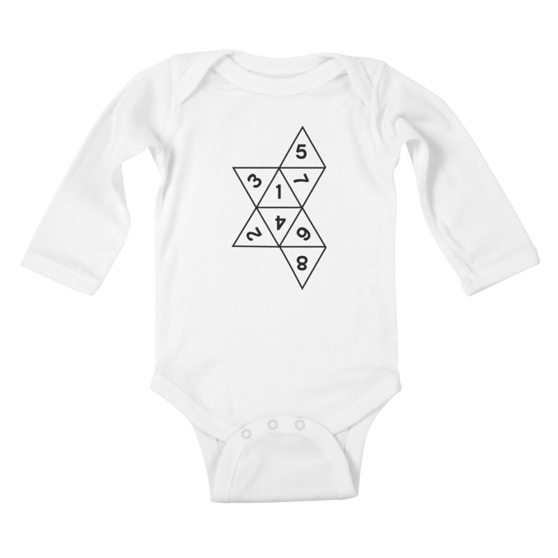 (D)econstructed 8 (blk) Kids Baby Longsleeve Bodysuit by VOID MERCH
