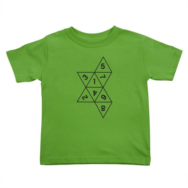 (D)econstructed 8 (blk) Kids Toddler T-Shirt by VOID MERCH