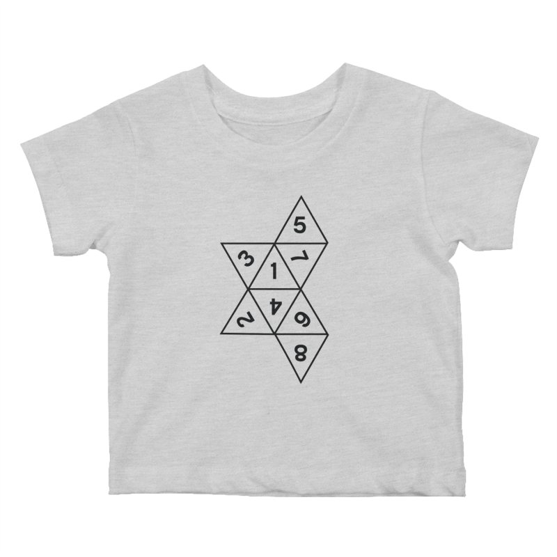 (D)econstructed 8 (blk) Kids Baby T-Shirt by VOID MERCH