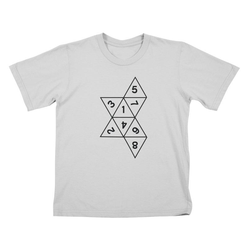 (D)econstructed 8 (blk) Kids T-Shirt by VOID MERCH