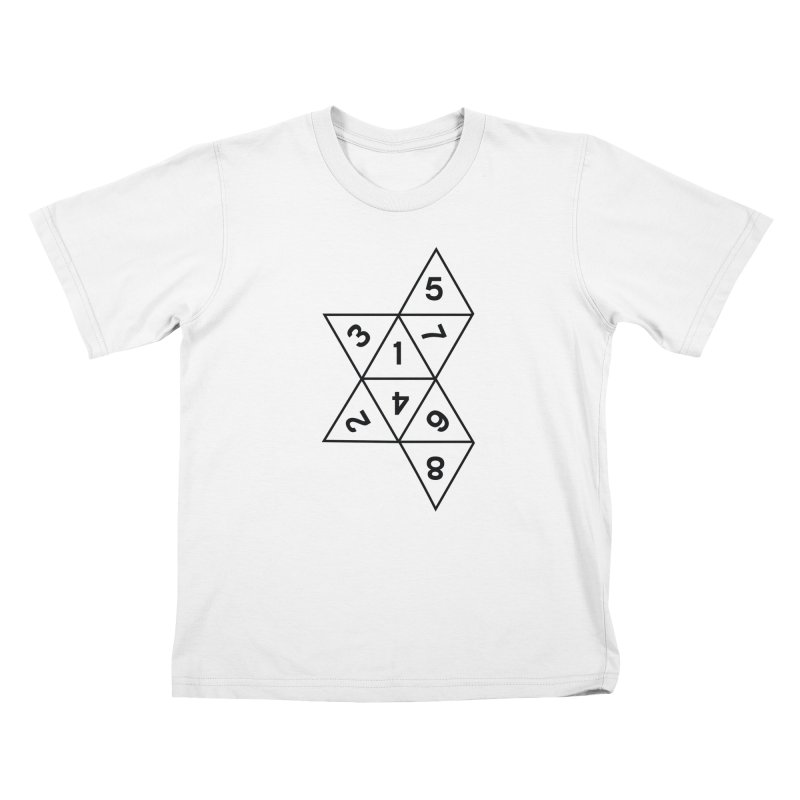 (D)econstructed 8 (blk) Kids T-Shirt by VOID MERCH