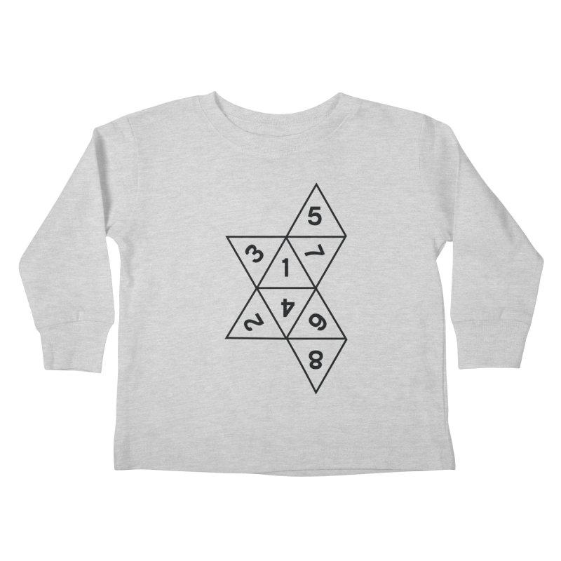 (D)econstructed 8 (blk) Kids Toddler Longsleeve T-Shirt by VOID MERCH