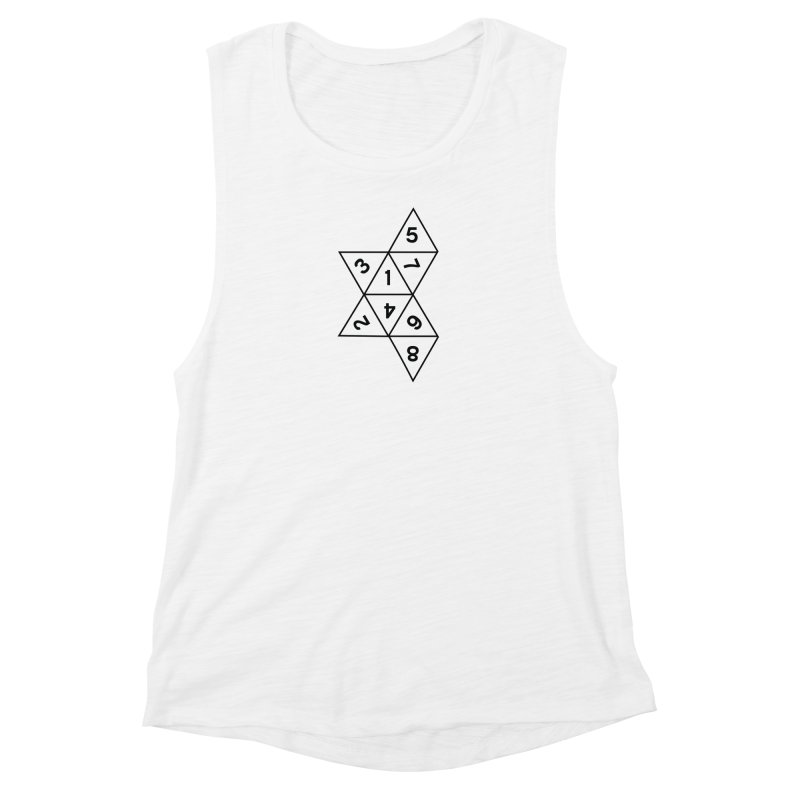(D)econstructed 8 (blk) Women's Muscle Tank by VOID MERCH