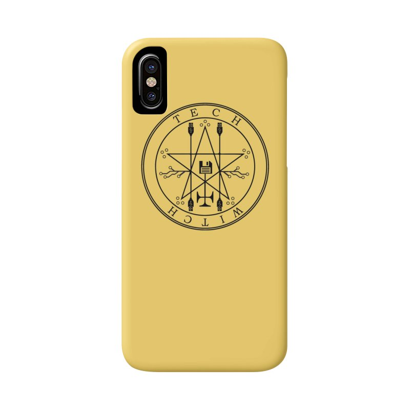 TECH WITCH (blk) Accessories Phone Case by VOID MERCH