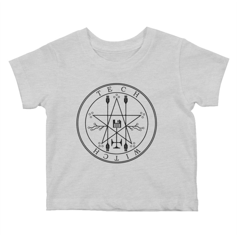 TECH WITCH (blk) Kids Baby T-Shirt by VOID MERCH