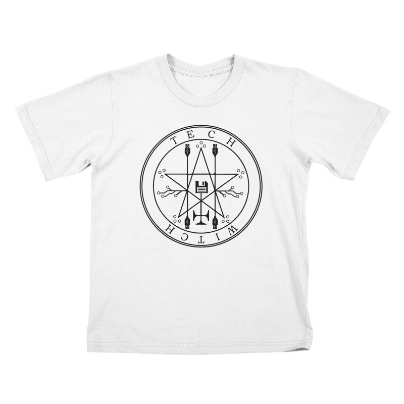 TECH WITCH (blk) Kids T-Shirt by VOID MERCH