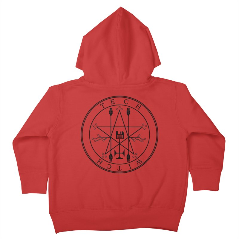 TECH WITCH (blk) Kids Toddler Zip-Up Hoody by VOID MERCH