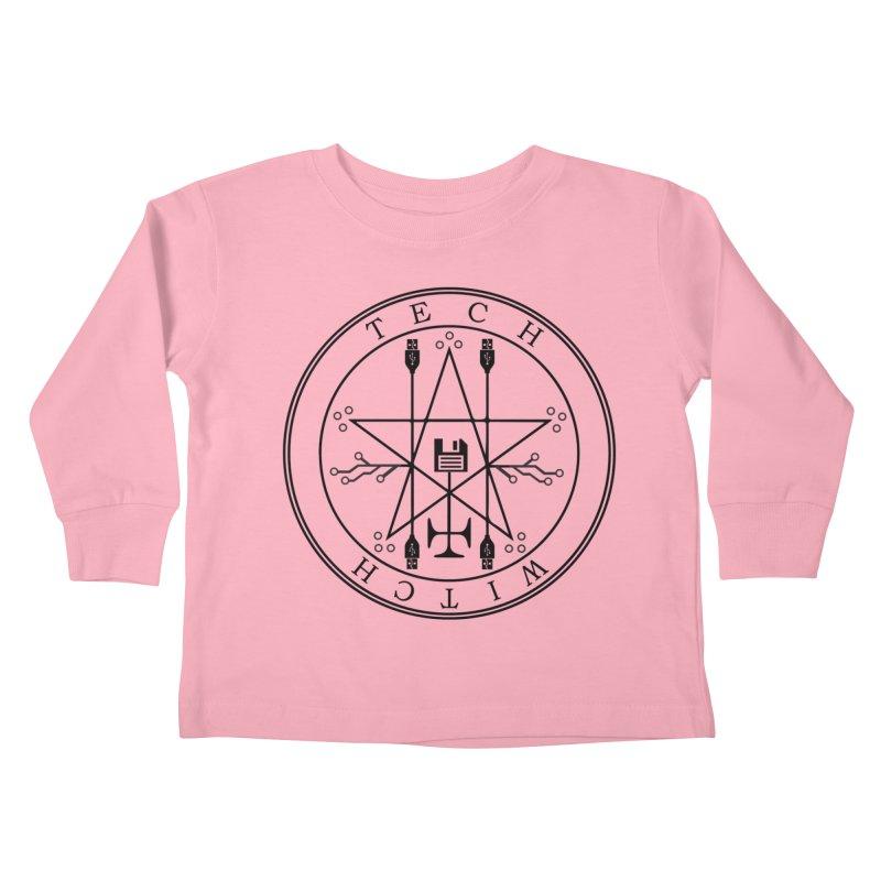 TECH WITCH (blk) Kids Toddler Longsleeve T-Shirt by VOID MERCH