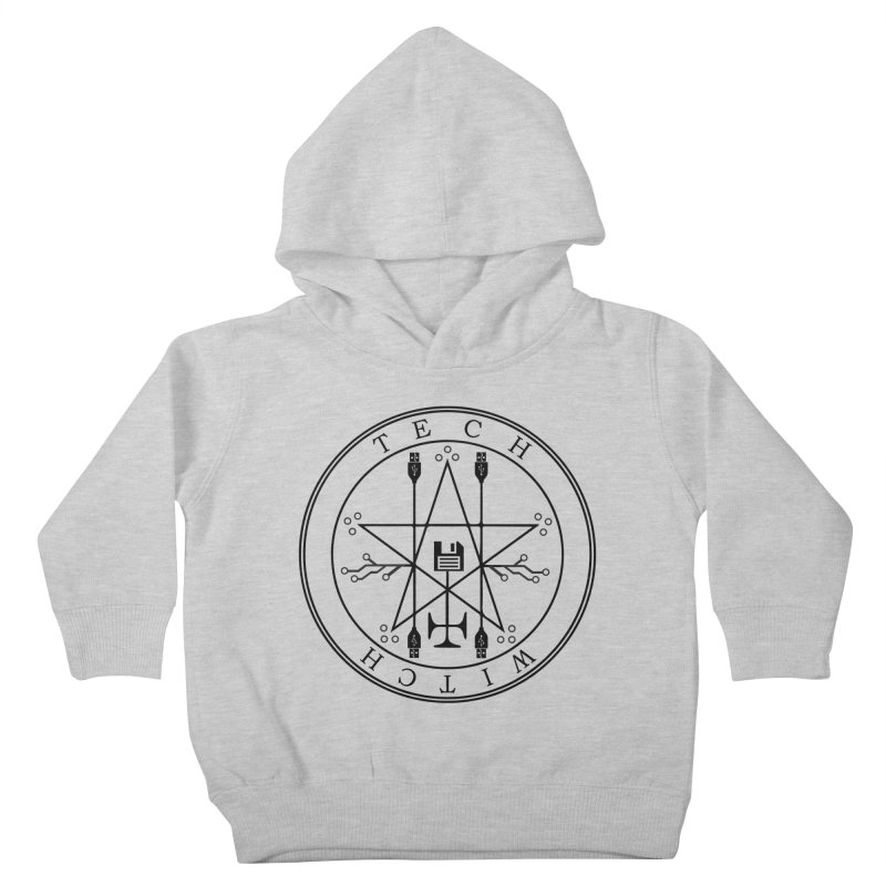 TECH WITCH (blk) Kids Toddler Pullover Hoody by VOID MERCH