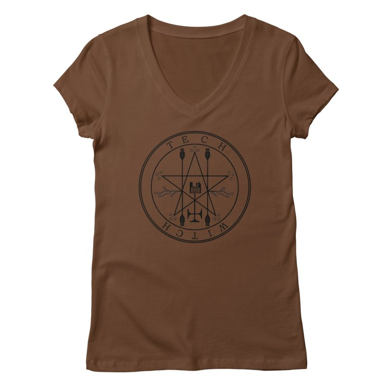 TECH WITCH (blk) Women's V-Neck by VOID MERCH