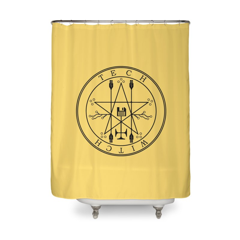 TECH WITCH (blk) Home Shower Curtain by VOID MERCH