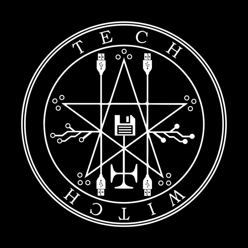 TECH WITCH (wht) Men's T-Shirt by VOID MERCH