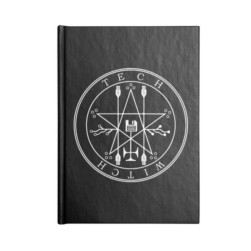 TECH WITCH (wht) Accessories Notebook by VOID MERCH