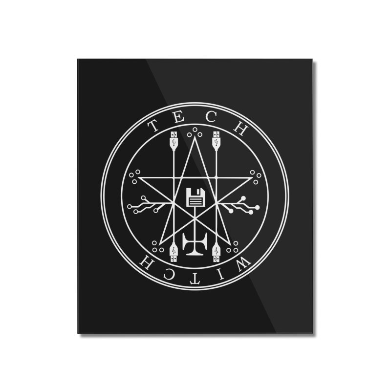 TECH WITCH (wht) Home Mounted Acrylic Print by VOID MERCH