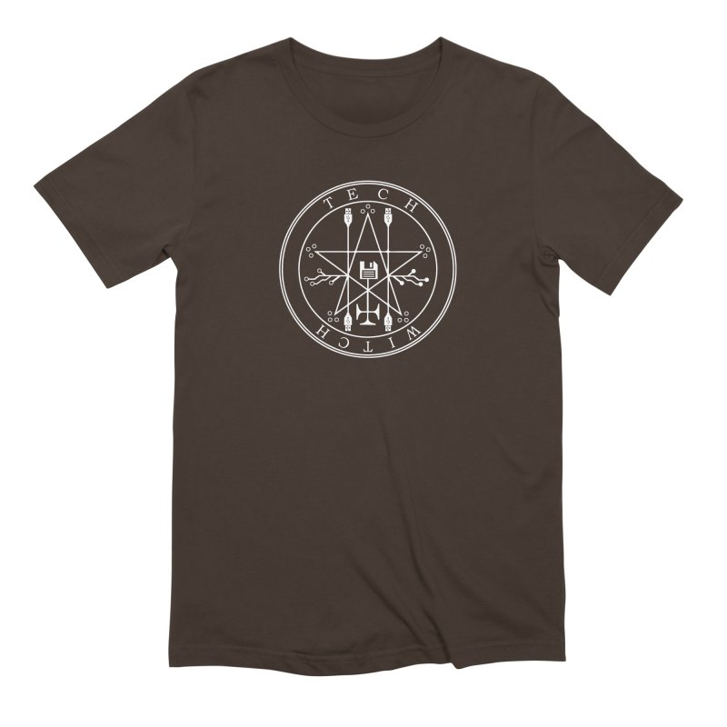 TECH WITCH (wht) Men's Extra Soft T-Shirt by VOID MERCH