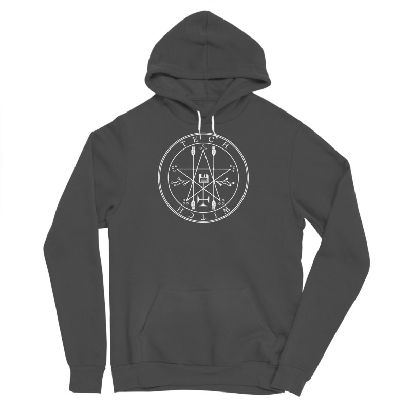 TECH WITCH (wht) Men's Sponge Fleece Pullover Hoody by VOID MERCH