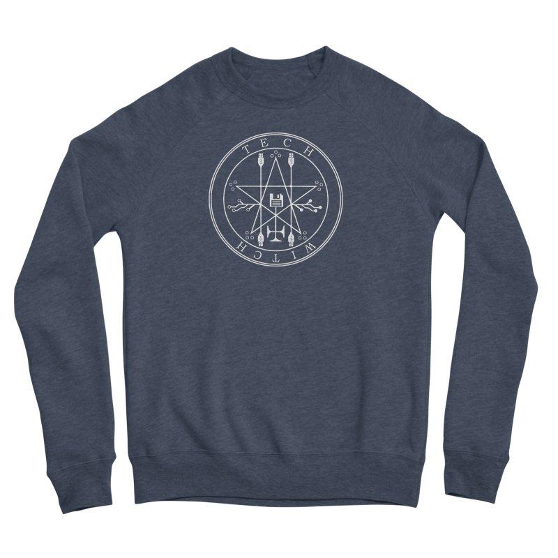 TECH WITCH (wht) Men's Sponge Fleece Sweatshirt by VOID MERCH