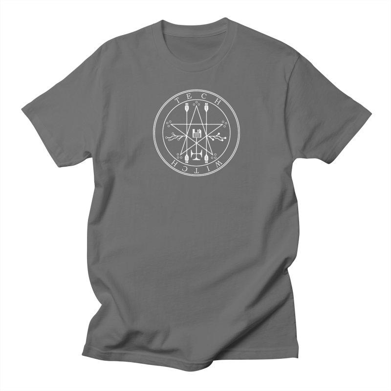 TECH WITCH (wht) Men's T-Shirt by VOID MERCH